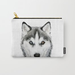Siberian Husky pattern3 Dog illustration original painting print Carry-All Pouch