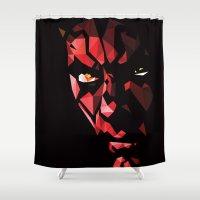 darth Shower Curtains featuring Darth Maul by Roland Banrevi