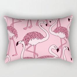 Pink Flamingos Print Rectangular Pillow