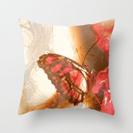 Butterfly in Trance Throw Pillow