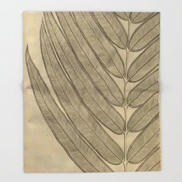 Naturalist Leaf Throw Blanket