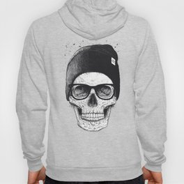 Black Skull in a hat Hoody