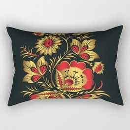 Golden russian folk Rectangular Pillow