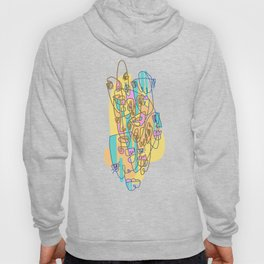 Abstract Faces JL8-20 (Filled) Hoody
