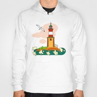 lighthouse Hoodies featuring Lighthouse by LaDa