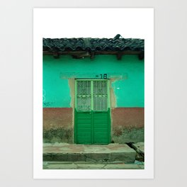 Green Door NO2 Art Print