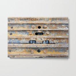 Rusty excavator caterpillar Metal Print