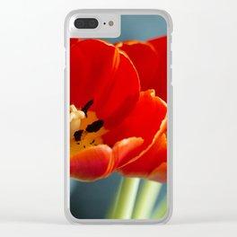 Red Dutch Tulip Clear iPhone Case