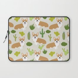 Welsh Corgi cactus southwest desert dog breed corgis gifts Laptop Sleeve