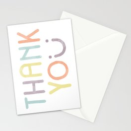 Thank you postcard Stationery Cards