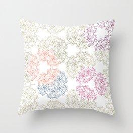 FlowerNet Throw Pillow