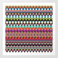 Aztec Mix Art Print