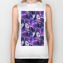 Violets and Blues Biker Tank