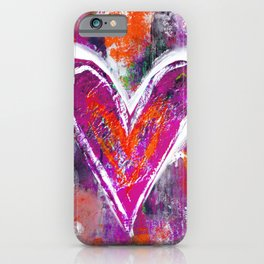 HEARTS OF PURPLE iPhone Case