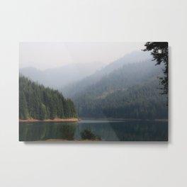 Lake Below the Fog Metal Print