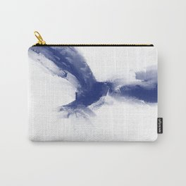 Soar Blue Abstract Bird with Lettering Carry-All Pouch