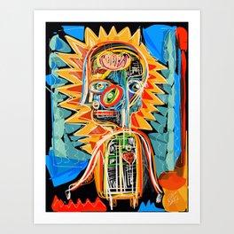 """Child"" street art brut expressionist digital painting Art Print"