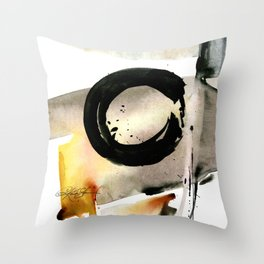 Enso Abstraction No. 105 by Kathy morton Stanion Throw Pillow