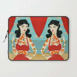 Foxy Tattooed Lady Laptop Sleeve