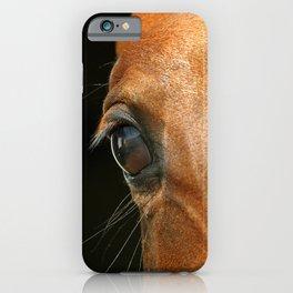 Horse eye on black background iPhone Case