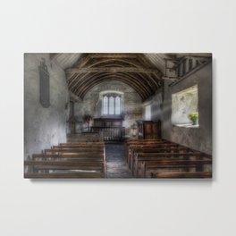 Llanrhychwyn Church Metal Print