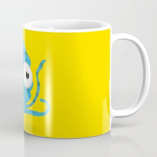Octopus Blue/Yellow Mug