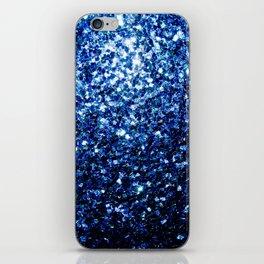 Beautiful Dark Blue glitter sparkles iPhone Skin