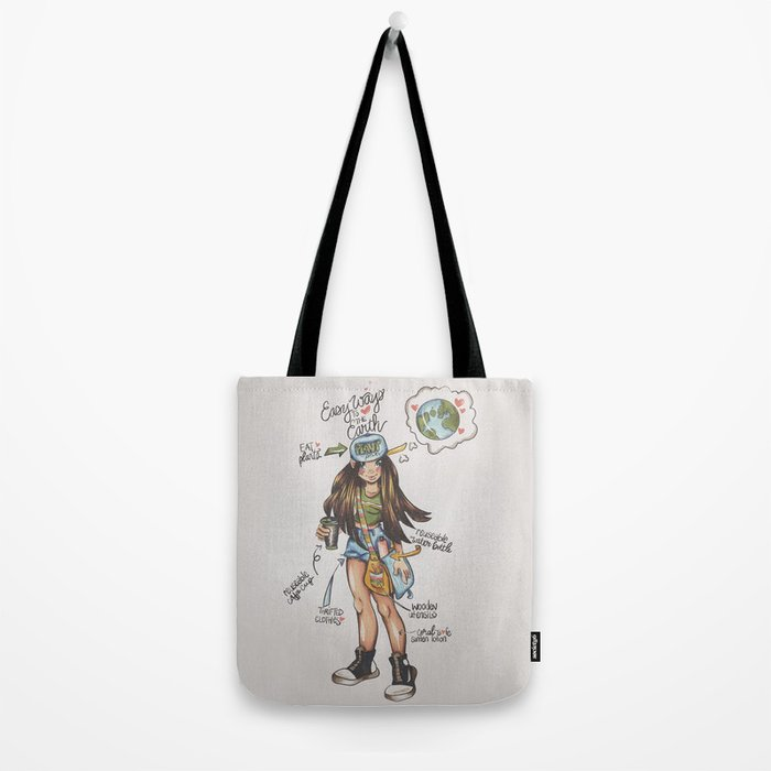 ECO-FRIENDLY TIPS Tote Bag