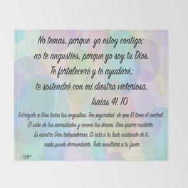 Burbujas - Isaías 41, 10 Throw Blanket