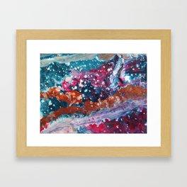 PURPLE NEBULA   Fluid abstract art by Natalie Burnett Art Framed Art Print
