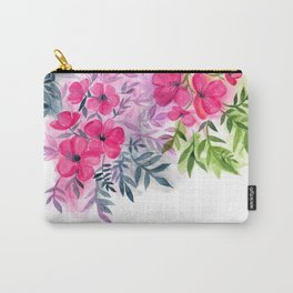 Dual Bouquets - a watercolor floral Carry-All Pouch