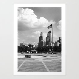 view from the art museum Art Print