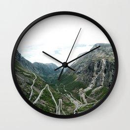 view from trollstigen Wall Clock