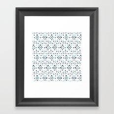 Mobula Rays Pattern Framed Art Print