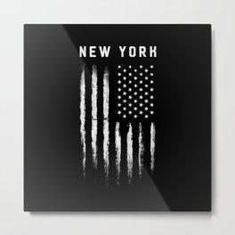 New York American Grunge Metal Print