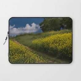Almaden Meadows' Mustard Blossoms Laptop Sleeve