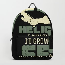 Helicopter Pilot Gift Idea Design Motif Backpack