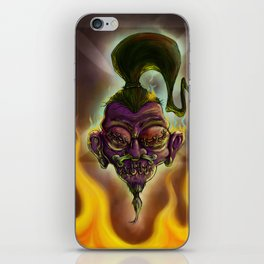 Rebel Shrunken Head iPhone Skin