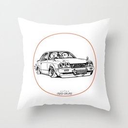 Crazy Car Art 0208 Throw Pillow