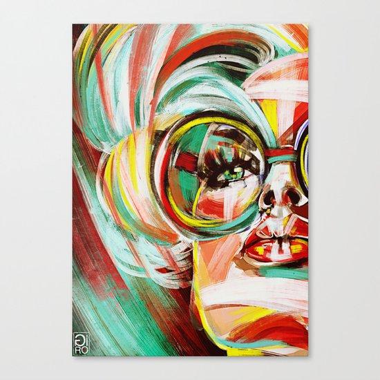 """Glowing 5"" Canvas Print"
