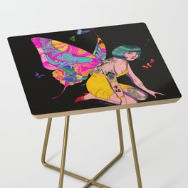 Happiness is a butterfly Side Table
