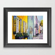 Row of Color Framed Art Print