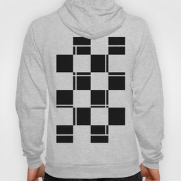 Black and white squares, crosses and lines Hoody
