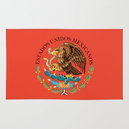 Mexican seal on Adobe red Rug
