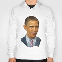 obama Hoodies featuring Obama 2012 by HOPE 4 MORE