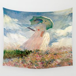 Claude Monet's Woman with a Parasol, Study Wall Tapestry
