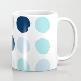 Minimal painted dot polkaed ot pattern blue navy indigo gender neutral nursery Coffee Mug