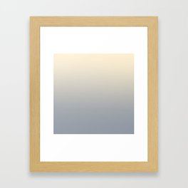 STONE COLD - Minimal Plain Soft Mood Color Blend Prints Framed Art Print