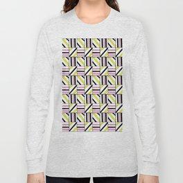 symetric tartan and gingham 2 -vichy, gingham,strip,square,geometric, sober,tartan Long Sleeve T-shirt