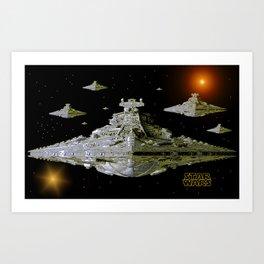Galactic Battle Cruisers  Art Print